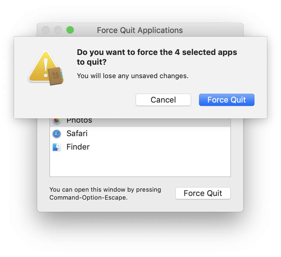 How to Force Quit Multiple Mac Apps Simultaneously