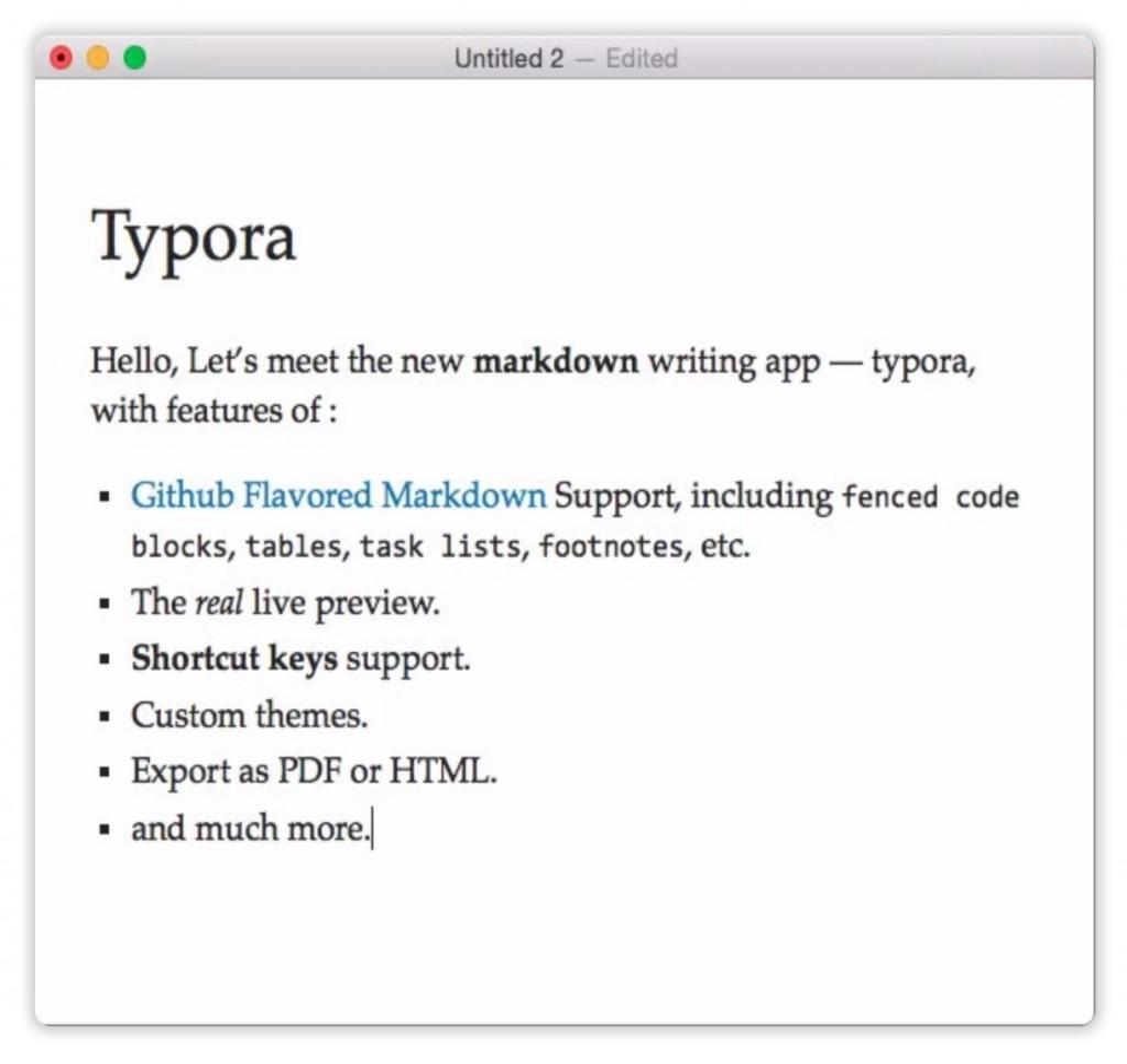 دانلود Typora  برای مک